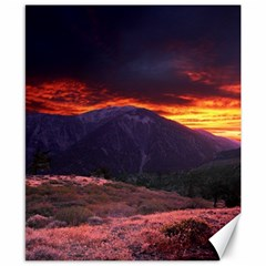 San Gabriel Mountain Sunset Canvas 8  X 10  by trendistuff