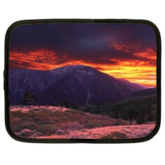 San Gabriel Mountain Sunset Netbook Case (large) by trendistuff