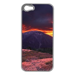 San Gabriel Mountain Sunset Apple Iphone 5 Case (silver) by trendistuff