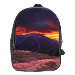 San Gabriel Mountain Sunset School Bags (xl)  by trendistuff