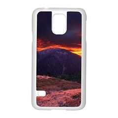 San Gabriel Mountain Sunset Samsung Galaxy S5 Case (white) by trendistuff