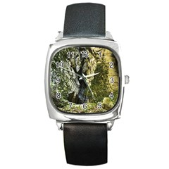 Mountain Path Square Metal Watches by trendistuff
