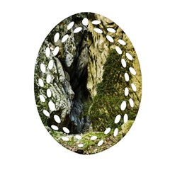 Mountain Path Oval Filigree Ornament (2-side)  by trendistuff