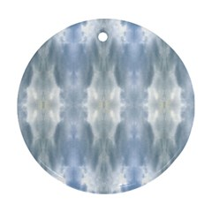 Ice Crystals Abstract Pattern Ornament (round)  by Costasonlineshop