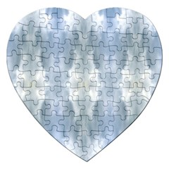 Ice Crystals Abstract Pattern Jigsaw Puzzle (heart) by Costasonlineshop