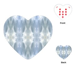 Ice Crystals Abstract Pattern Playing Cards (heart)  by Costasonlineshop