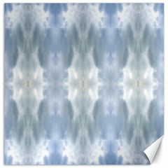 Ice Crystals Abstract Pattern Canvas 16  X 16   by Costasonlineshop