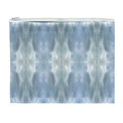 Ice Crystals Abstract Pattern Cosmetic Bag (xl) by Costasonlineshop