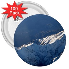 Mount Tapuaenuku 3  Buttons (100 Pack)