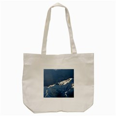 Mount Tapuaenuku Tote Bag (cream)  by trendistuff