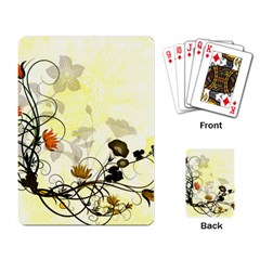 Wonderful Flowers With Leaves On Soft Background Playing Card by FantasyWorld7