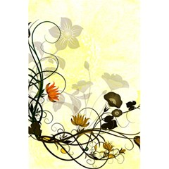 Wonderful Flowers With Leaves On Soft Background 5 5  X 8 5  Notebooks by FantasyWorld7