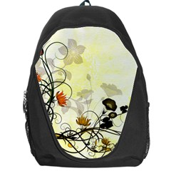 Wonderful Flowers With Leaves On Soft Background Backpack Bag by FantasyWorld7