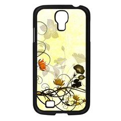 Wonderful Flowers With Leaves On Soft Background Samsung Galaxy S4 I9500/ I9505 Case (black) by FantasyWorld7
