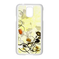 Wonderful Flowers With Leaves On Soft Background Samsung Galaxy S5 Case (white) by FantasyWorld7
