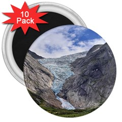 Briksdalsbreen 3  Magnets (10 Pack)  by trendistuff