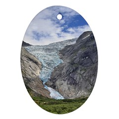 Briksdalsbreen Oval Ornament (two Sides) by trendistuff