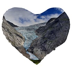 Briksdalsbreen Large 19  Premium Heart Shape Cushions by trendistuff