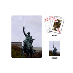 Washington Statue Playing Cards (mini)  by trendistuff