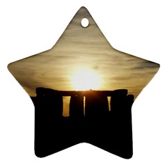 Sunset Stonehenge Ornament (star)  by trendistuff