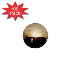Sunset Stonehenge 1  Mini Buttons (100 Pack)