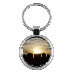 Sunset Stonehenge Key Chains (round)  by trendistuff
