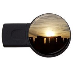 Sunset Stonehenge Usb Flash Drive Round (4 Gb)  by trendistuff