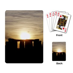 Sunset Stonehenge Playing Card by trendistuff