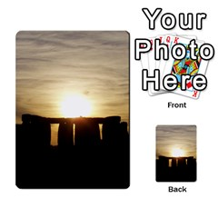 Sunset Stonehenge Multi Purpose Cards (rectangle)  by trendistuff