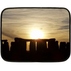 Sunset Stonehenge Fleece Blanket (mini) by trendistuff