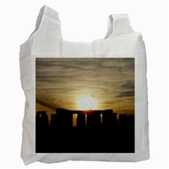Sunset Stonehenge Recycle Bag (two Side)  by trendistuff