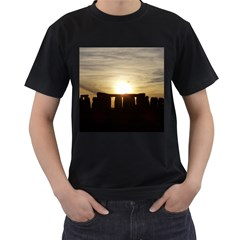 Sunset Stonehenge Men s T Shirt (black) by trendistuff