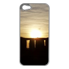 Sunset Stonehenge Apple Iphone 5 Case (silver) by trendistuff