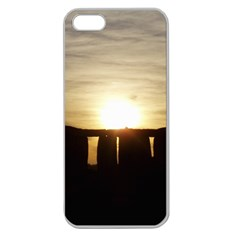 Sunset Stonehenge Apple Seamless Iphone 5 Case (clear) by trendistuff