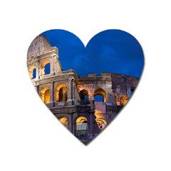 Rome Colosseum 2 Heart Magnet by trendistuff