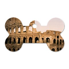 Rome Colosseum Dog Tag Bone (one Side) by trendistuff