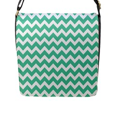 Chevron Pattern Gifts Flap Messenger Bag (l)  by creativemom