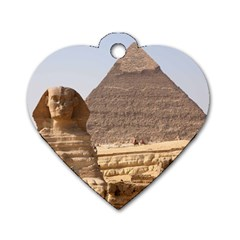 Pyramid Egypt Dog Tag Heart (two Sides)