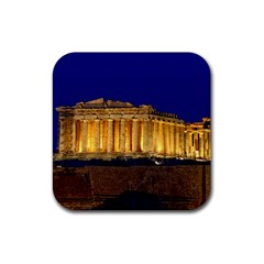 Parthenon 2 Rubber Square Coaster (4 Pack)  by trendistuff