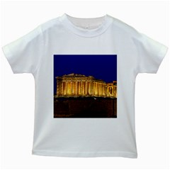 Parthenon 2 Kids White T Shirts by trendistuff