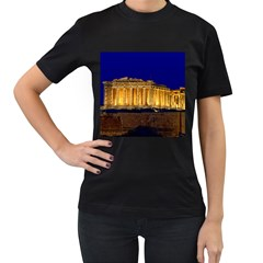 Parthenon 2 Women s T Shirt (black) (two Sided) by trendistuff