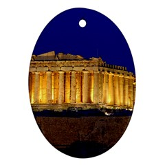 Parthenon 2 Oval Ornament (two Sides) by trendistuff