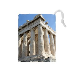 Parthenon Drawstring Pouches (medium)  by trendistuff