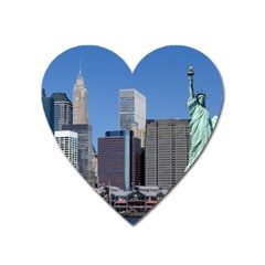 Ny Liberty 2 Heart Magnet by trendistuff