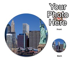 Ny Liberty 2 Multi Purpose Cards (round)  by trendistuff