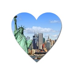 Ny Liberty 1 Heart Magnet by trendistuff
