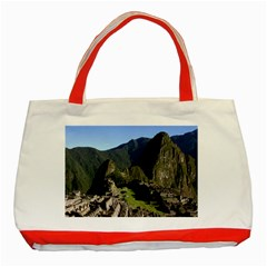 Machu Picchu Classic Tote Bag (red)  by trendistuff
