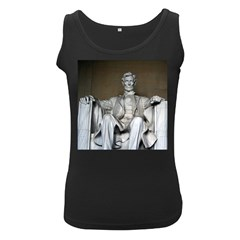 Lincoln Memorial Women s Black Tank Tops