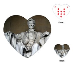 Lincoln Memorial Playing Cards (heart)  by trendistuff