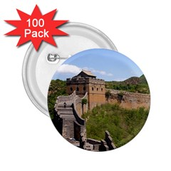 Great Wall Of China 3 2 25  Buttons (100 Pack)  by trendistuff